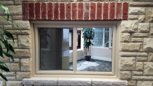 Cream Color Vinyl Window