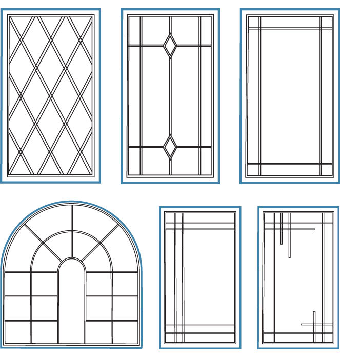 Window grill styles common layouts for windows sc